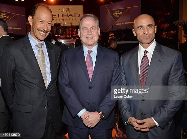US Ambassador to the United Arab Emirates Michael H Corbin James Hogan President and Chief Executive of Etihad Airways and Ambassador of the United...