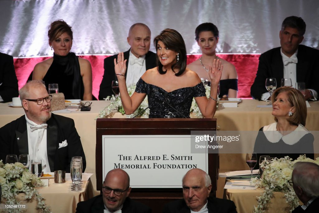 Nikki Haley Honored At Annual Alfred E. Smith Memorial Foundation Dinner : News Photo