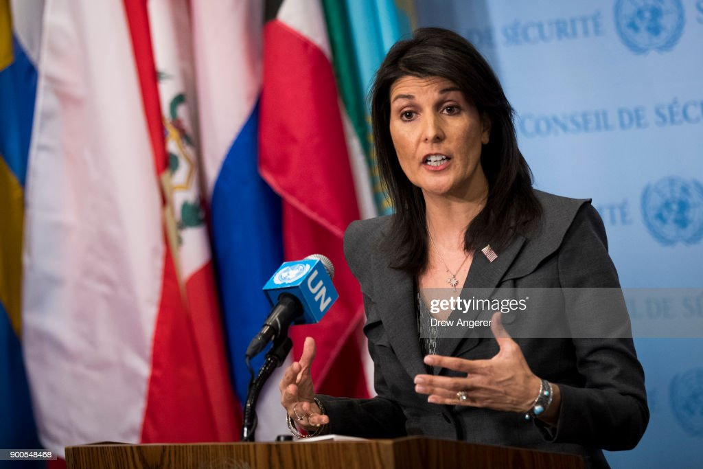 UN Ambassador Nikki Haley Addresses Press On Protests In Iran And U.S. Relations With Pakistan