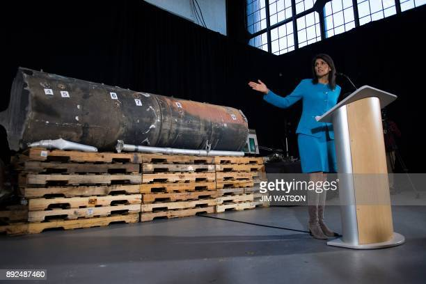 US Ambassador to the United Nations Nikki Haley unveils previously classified information intending to prove Iran violated UNSCR 2231 by providing...