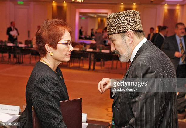 Ambassador to Ukraine Marie Louise Yovanovitch and Chairman of the Audit Commission of Kurultay of the Crimean Tatar people Ali Ozenbash attend a...