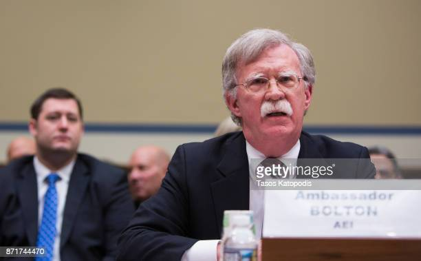 Ambassador to United Nations John Bolton speaks at the National Oversight and Government Reform Committee on moving the US Embassy in Israel to...