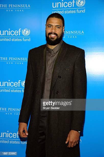 Ambassador Tyson Chandler attends the 2013 UNICEF Snowflake Lighting on November 15 2013 in New York City