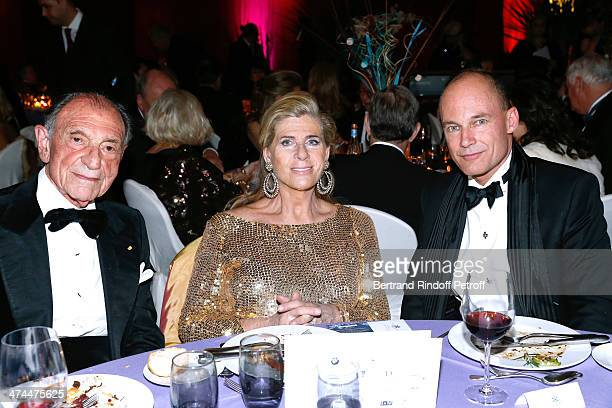 Ambassador Zahedi Ardeshir President of the Gala Princess Lea of Belgium and psychiatrist and aeronaut Bertrand Piccard attend 'La Nuit des Neiges'...
