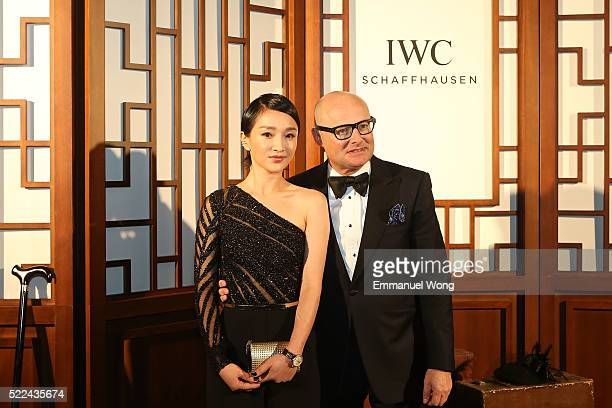 Ambassador Zhou Xun and IWC CEO Georges Kern attend the IWC 'For the love of Cinema' Gala Dinner at the Beijing International Film Festival during...