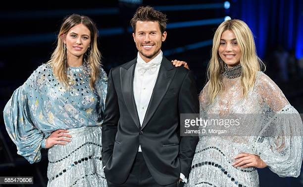 Ambassadors for David Jones Jesinta Campbell Jason Dundas and Jessica Gomes during rehearsals ahead of the David Jones Spring/Summer 2016 Fashion...