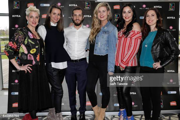 Ambassadors Jo Stanley Jo Silvagni Luke Morris Abby Gilmore Sophie Cachia Chelsea Roffey arrives ahead of the Liptember 2017 Campaign Launch Lunch on...