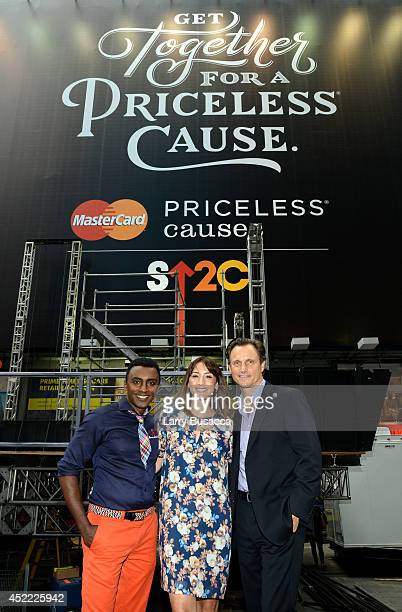 SU2C Ambassadors Marcus Samuelsson Bree Turner and Tony Goldwyn join as MasterCard and Stand Up To Cancer Launch The Priceless Table in Times Square...