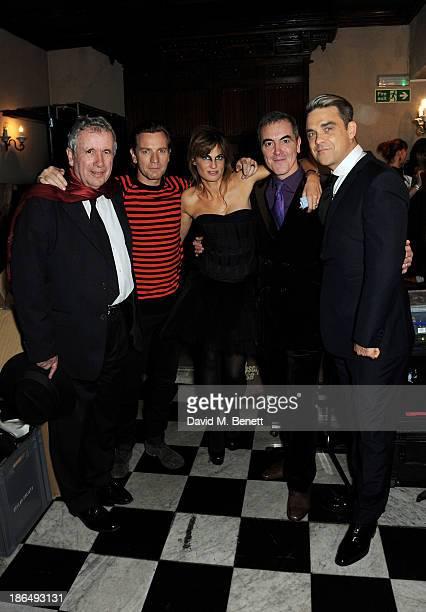 UNICEF Ambassadors Martin Bell Ewan McGregor Jemima Khan James Nesbitt and Robbie Williams attend the UNICEF UK Halloween Ball hosted by Jemima Khan...
