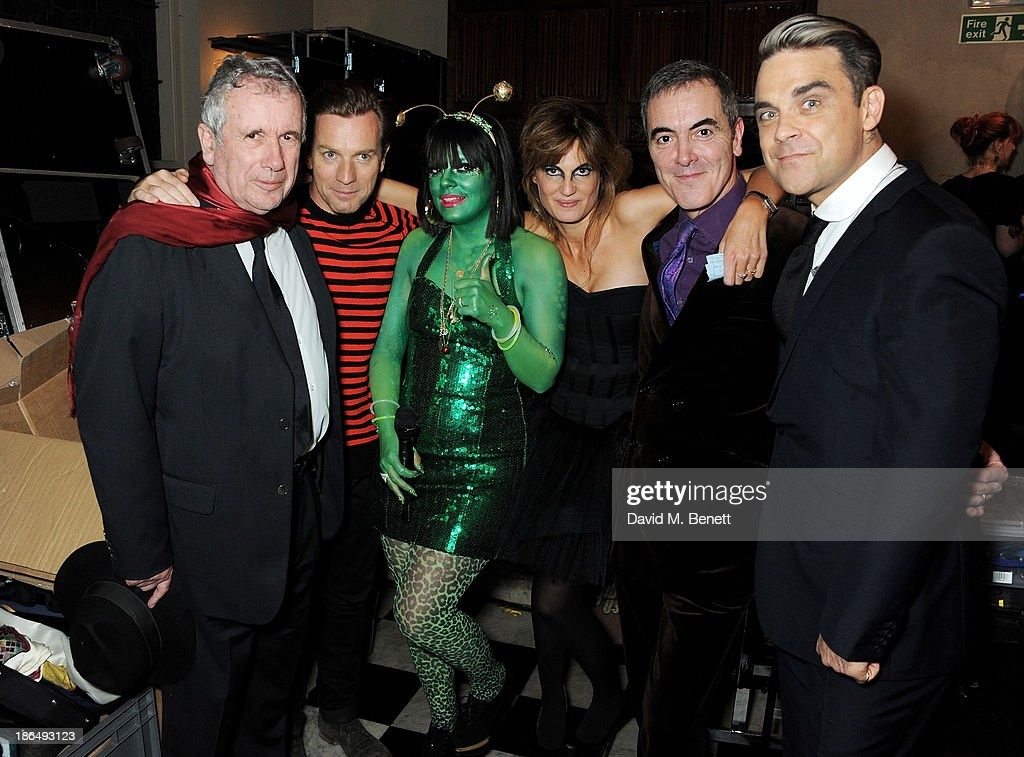 Ambassadors Martin Bell, Ewan McGregor, Lily Allen, Jemima Khan, James Nesbitt and Robbie Williams attend the UNICEF UK Halloween Ball hosted by Jemima Khan, raising vital funds for UNICEF's work for children affected by the current Syria crisis, at One Mayfair on October 31, 2013 in London, England. All money raised for Unicef from today - and for the next three months - will be matched pound for pound by the UK Government to help the children of Syria. Text 'Syria' to 70007 to give £5 to help UNICEF reach even more children caught up in the crisis.
