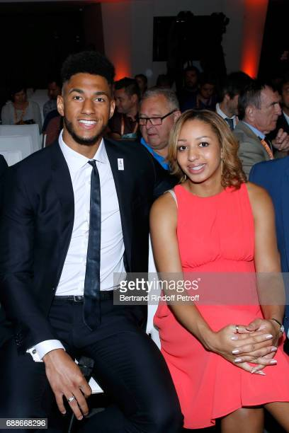 Ambassadors of Olympic Games of Paris 2024 and Olympic Champions of Boxe Tony Yoka and Estelle Mossely attend the 2017 Roland Garros French Tennis...