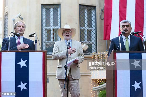 US EMBASSY BAKU AZERBAIJAN Ambassadors of the United States to Azerbaijan Robert Cekuta singer Stephen Guice and Minister of Finance of the Republic...