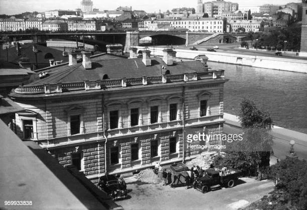 Ambassador's Residence, British Embassy , Moscow, USSR, 1950. Rooftop view of the west wing, looking north-west, with the Rover Moskva beyond. Works...