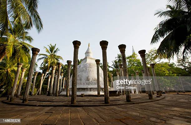 ambasthale dagoba. - mihintale stock pictures, royalty-free photos & images