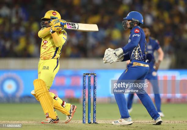 Ambati Rayudu of the Chennai Super Kings bats during the Indian Premier League Final match between the the Mumbai Indians and Chennai Super Kings at...