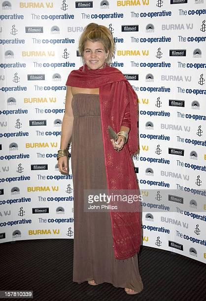 Amber Aikens Arrives To The Burma Vj Uk Film Premiere At Bafta London