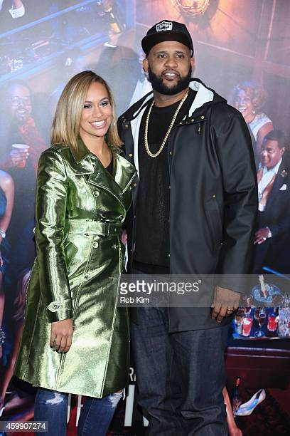 Amber and CC Sabathia attend the Top Five New York Premiere at Ziegfeld Theater on December 3 2014 in New York City
