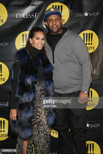 Amber and CC Sabathia attend the TYLITE Launch Party at Wallplay Gallery on February 12 2016 in New York City