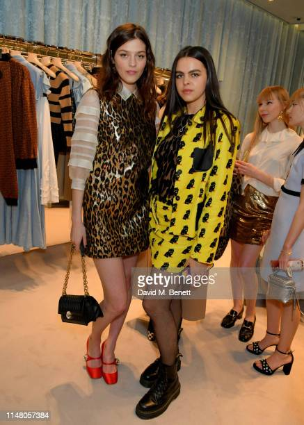 Amber Anderson and Bee Beardsworth attends the Miu Miu Select by Georgia May Jagger event on May 09 2019 in London England