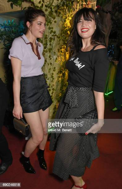 Amber Anderson and Daisy Lowe attend the ALEXACHUNG London launch party at The Aviary Bar on May 30 2017 in London England
