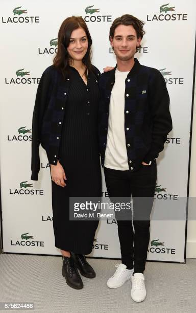 Amber Anderson and Jack Brett Anderson attend Lacoste VIP Lounge during 2017 ATP World Tour Semi Finals at The O2 Arena on November 18 2017 in London...