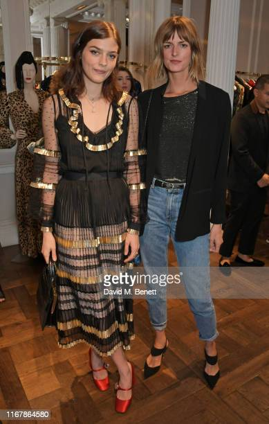 Amber Anderson and Jacquetta Wheeler attend the Temperley London SS20 presentation during London Fashion Week September 2019 on September 13, 2019 in...