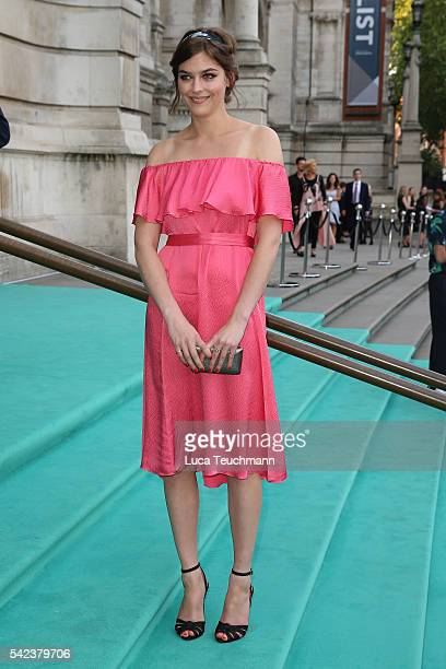 Amber Anderson arrives for the VA Summer Party at Victoria and Albert Museum on June 22 2016 in London England