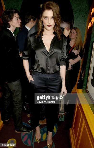 Amber Anderson at the LOVE and Burberry London Fashion Week Party at Annabel's celebrating Katie Grand and Kendall Jenner's #LOVEME17 on February 20...