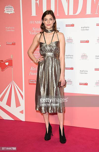 Amber Anderson at The Naked Heart Foundation's Fabulous Fund Fair in London at Old Billingsgate Market on February 20 2016 in London England