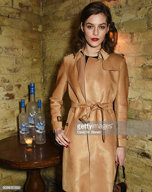 Amber Anderson attends Harvey Weinstein's preBAFTA dinner in partnership with Burberry and GREY GOOSE at Little House Mayfair on February 12 2016 in...