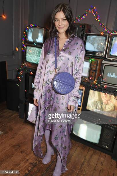 Amber Anderson attends Mulberry's 'It's Not Quite Christmas' party on November 15 2017 in London England