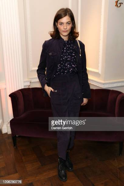 Amber Anderson attends Temperley London Store Event Winter 2020 Collection,during London Fashion Week, on February 14, 2020 in London, England.