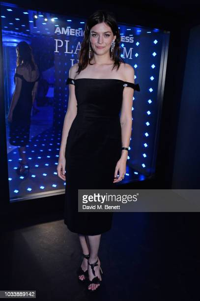 Amber Anderson attends the Alexa Chung London Fashion Week After Party at American Express Platinum House on September 15 2018 in London England