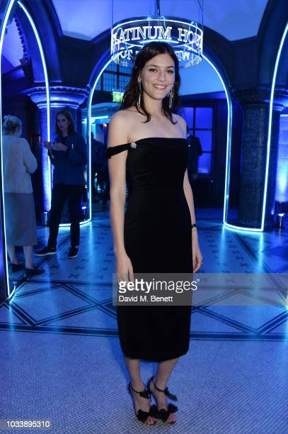 Amber Anderson attends the Alexa Chung London Fashion Week After Party at American Express Platinum House on September 15, 2018 in London, England.