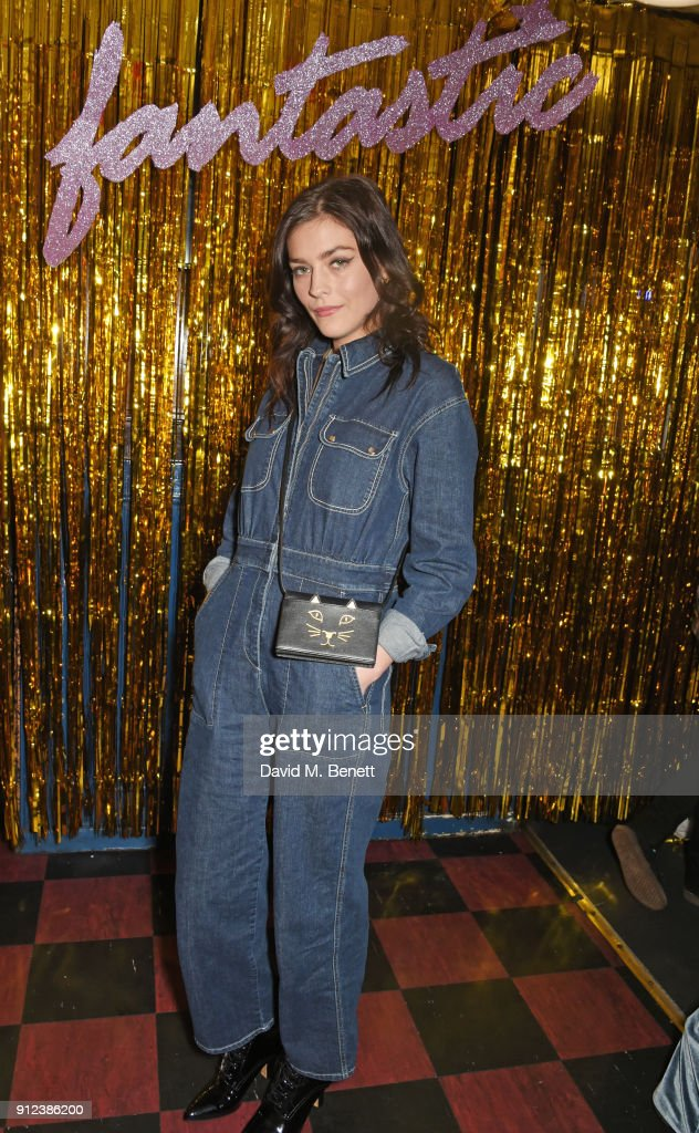 Amber Anderson attends the ALEXACHUNG Fantastic collection party on January 30, 2018 in London, England.