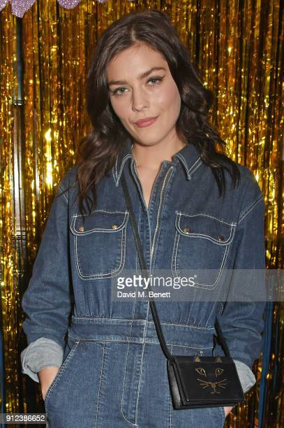 Amber Anderson attends the ALEXACHUNG Fantastic collection party on January 30 2018 in London England