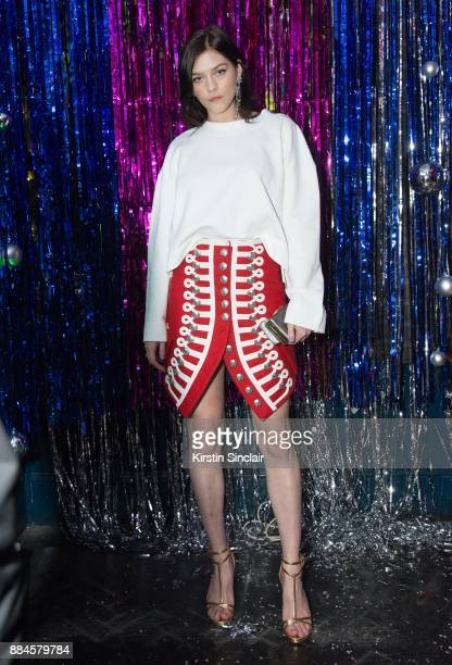 Amber Anderson attends the Burberry x Cara Delevingne Christmas Party on December 2 2017 in London England