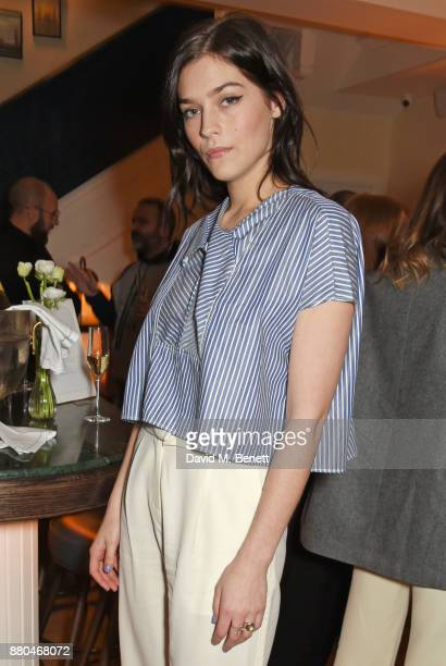 Amber Anderson attends the Carven dinner hosted by new creative director Serge Ruffieux at Clarette on November 27 2017 in London England