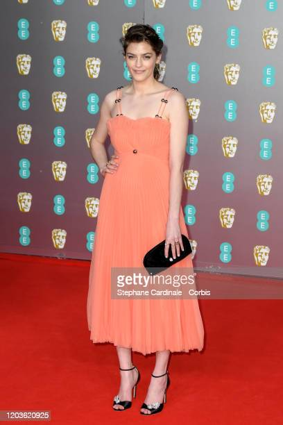 Amber Anderson attends the EE British Academy Film Awards 2020 at Royal Albert Hall on February 02, 2020 in London, England.