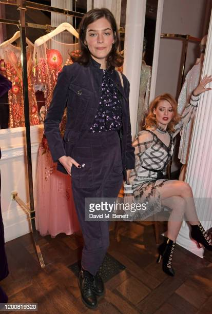 Amber Anderson attends the Temperley London presentation during London Fashion Week February 2020 at on February 14, 2020 in London, England.
