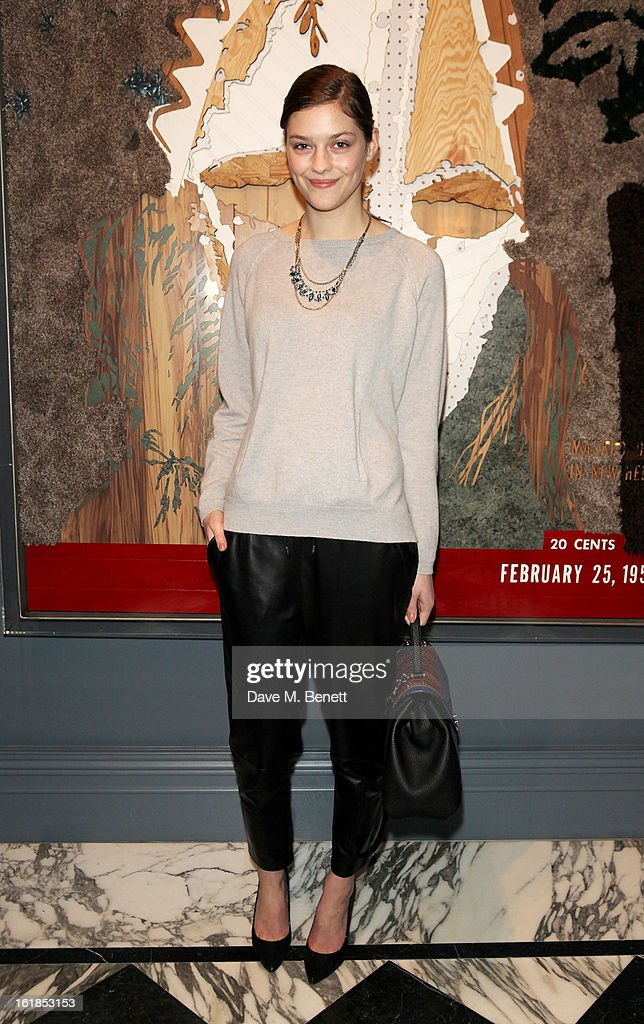 Amber Anderson attends the Whistles Limited Edition Autumn/Winter 2013 Collection at The Arts Club on February 17, 2013 in London, England.