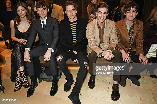 Amber Anderson Josh Whitehouse Brooklyn Beckham Gabriel DayLewis and Alex Lawther attend the Burberry Menswear January 2016 Show on January 11 2016...