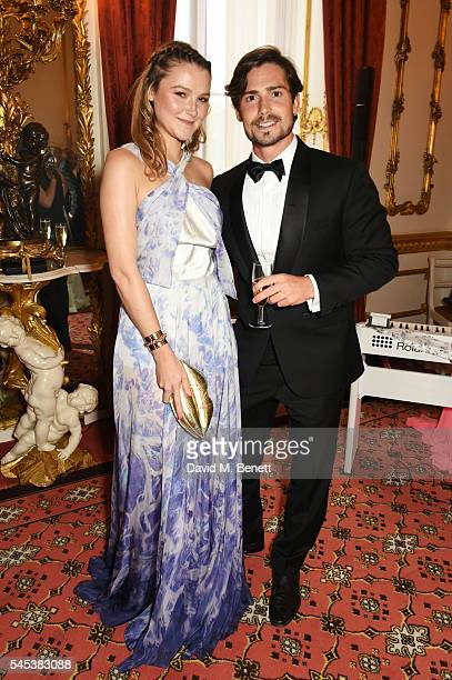 Amber Atherton and Chris Whitlock attend The Dream Ball in aid of The Prince's Trust and Big Change at Lancaster House on July 7, 2016 in London,...