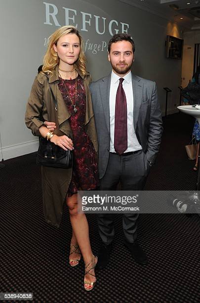 Amber Atherton and Max Guen attends a private London Screening of 'Refuge' A multimedia chronicle of human stories from the European Refugee Crisis...