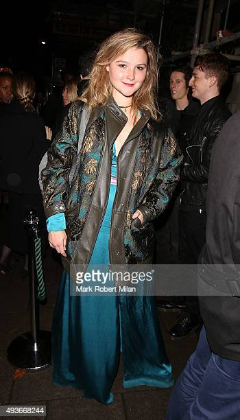Amber Atherton attending AnOther Magazine x Dior Party at Annabels club on October 21 2015 in London England