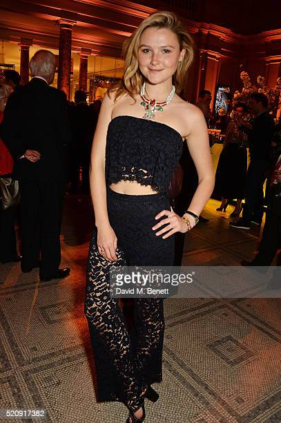 Amber Atherton attends a private view of new exhibition Undressed A Brief History Of Underwear at The VA on April 13 2016 in London England