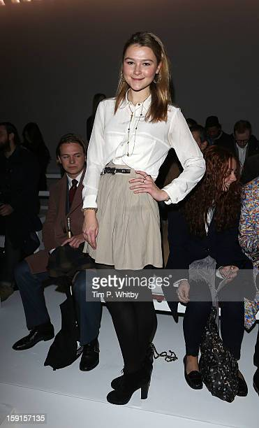 Amber Atherton attends the Christopher Raeburn show at the London Collections: MEN AW13 at The Hospital Club on January 9, 2013 in London, England.