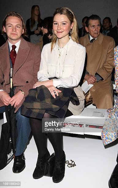 Amber Atherton attends the Christopher Raeburn show at the London Collections MEN AW13 at The Hospital Club on January 9 2013 in London England