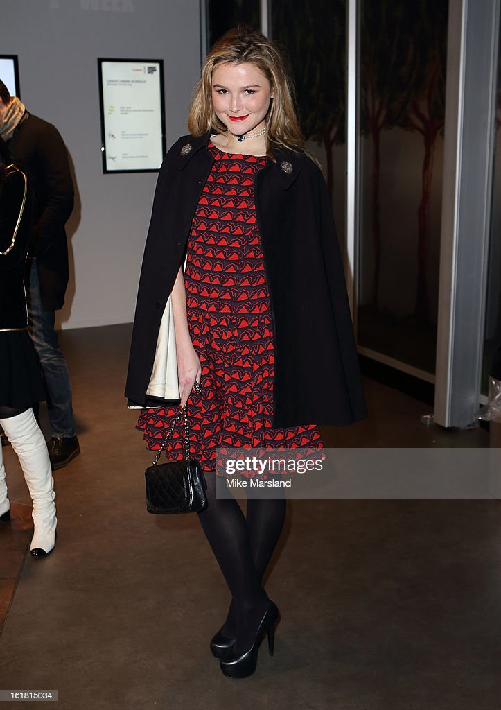 Amber Atherton attends the Issa London show during London Fashion Week Fall/Winter 2013/14 at Somerset House on February 16, 2013 in London, England.
