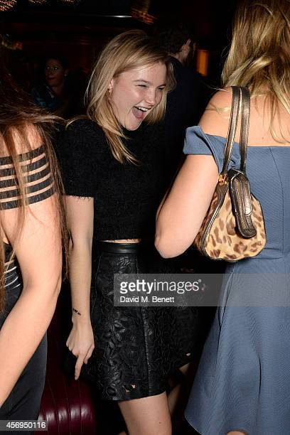 Amber Atherton attends the launch party as Mondrian London opens its doors on London's South Bank at Mondrian Hotel on October 9 2014 in London...